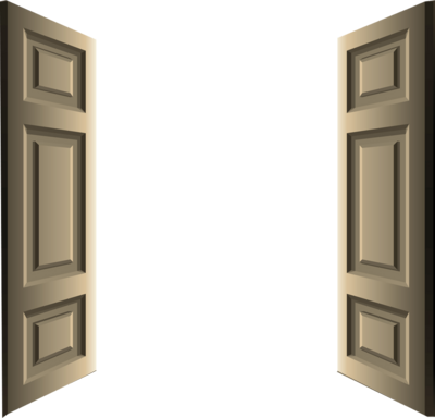 image transparent download Vector door double.  collection of clipart