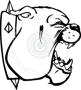 picture library stock Mouth open drawing at. Vector bulldog side view