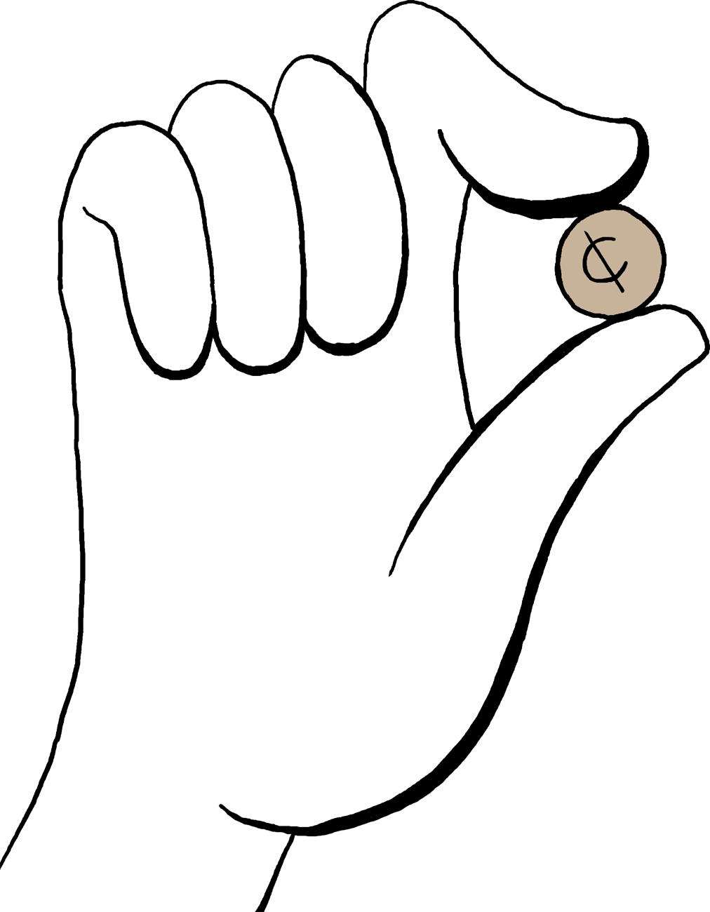 clip art free Drawing something hand holding. A perfect world clip