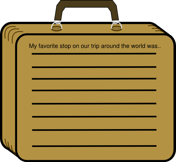 vector transparent download Lined suitcase clip art. Luggage clipart border.