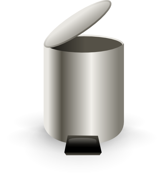 clipart royalty free Open Trash Can Clip Art at Clker