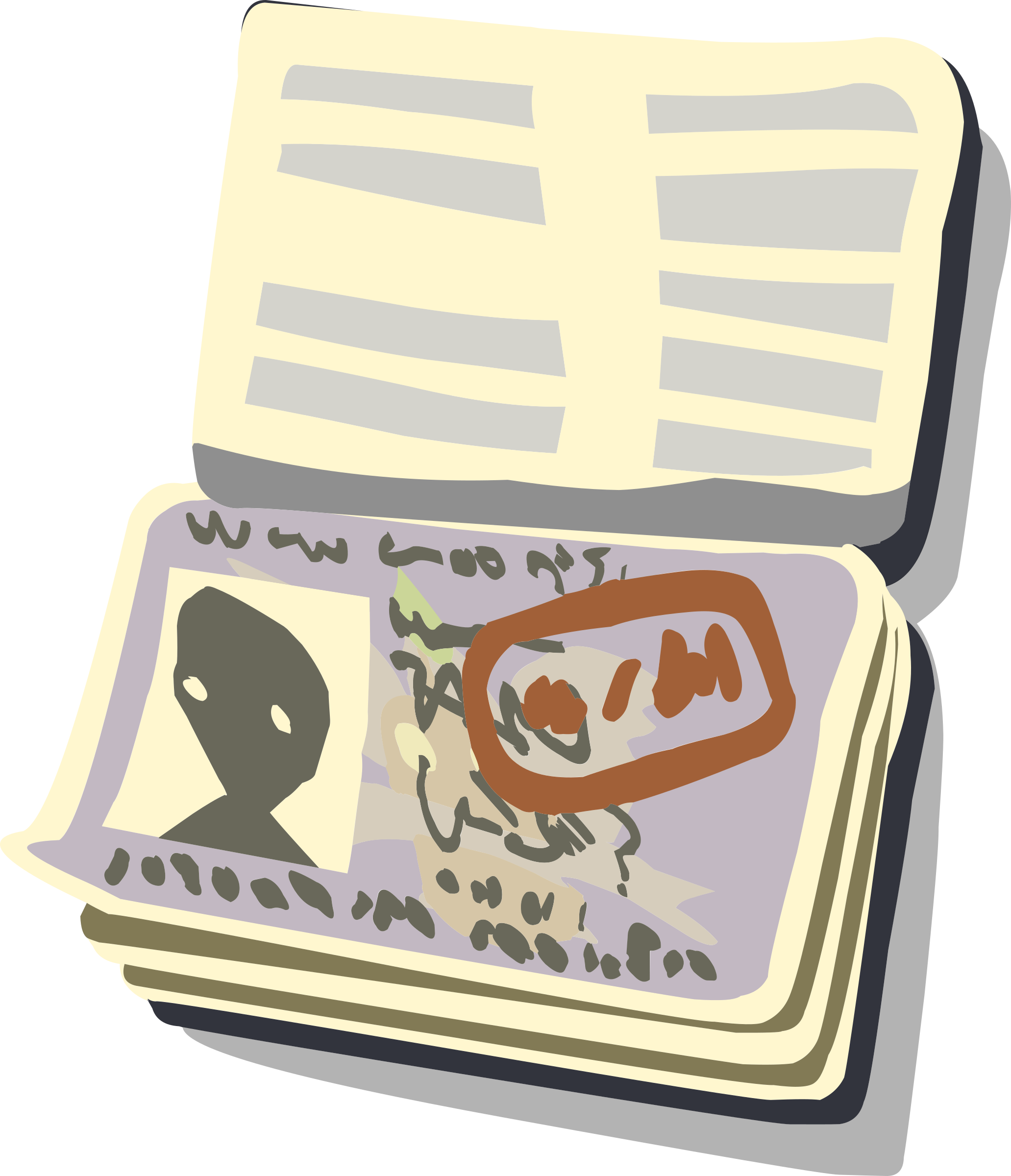 png transparent Passport icons png free. Open wallet clipart.