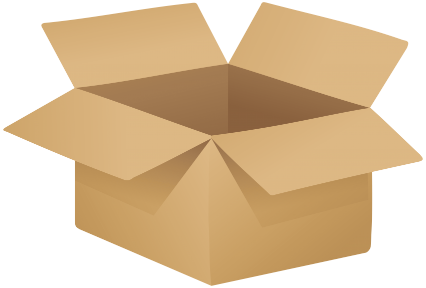 png transparent stock Cardboard box png free. Open wallet clipart.