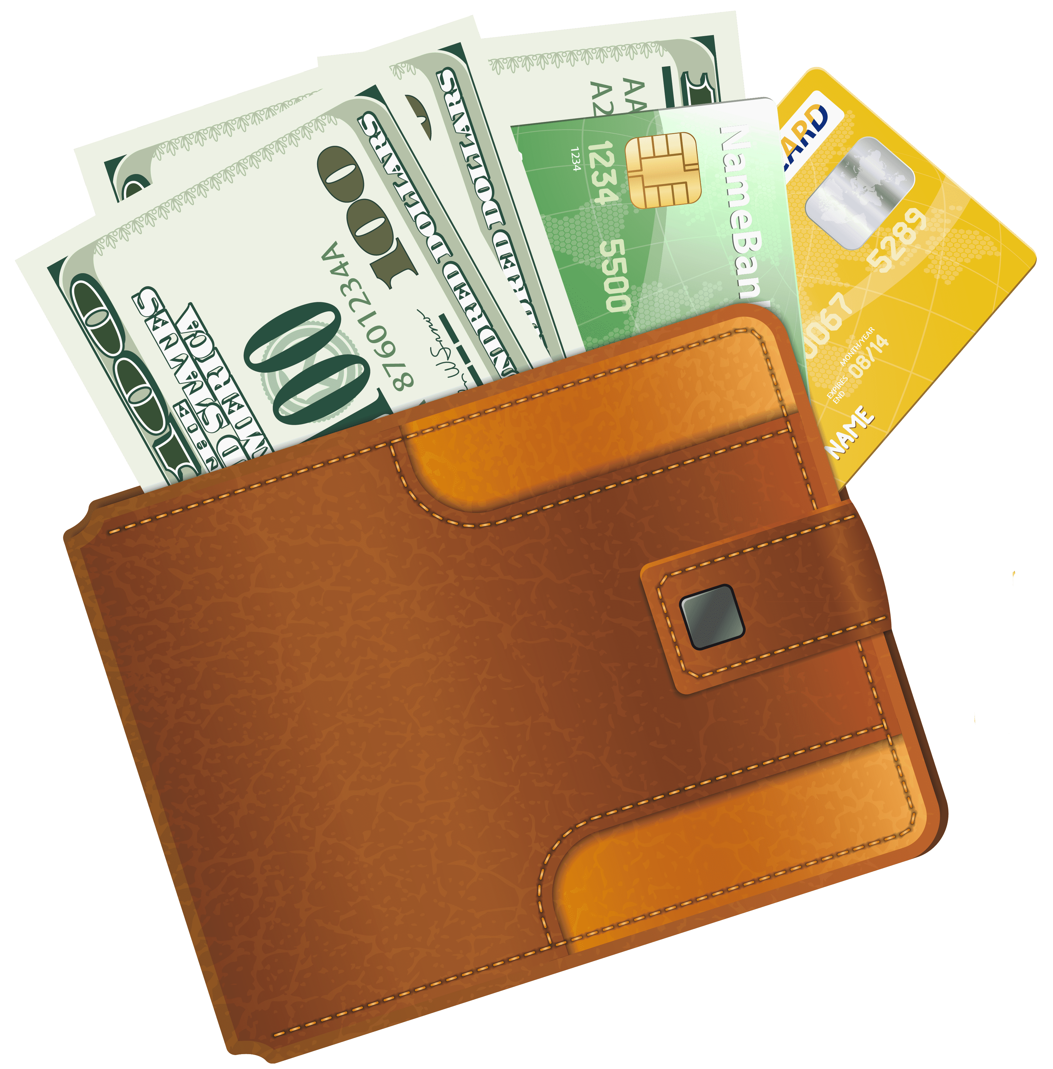 clip art royalty free library Open wallet clipart. With credit cards png.