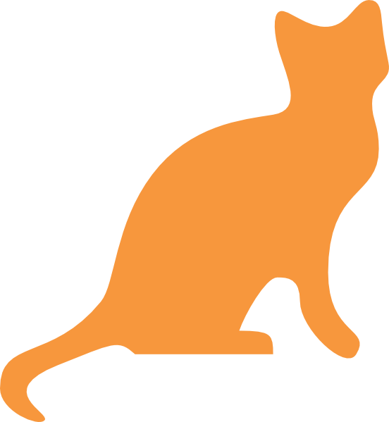 vector library stock Orange Cat Silhouette Clip Art at Clker