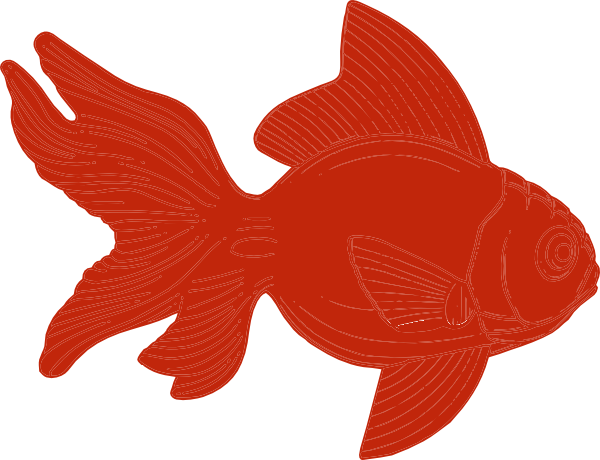 royalty free stock Orange Fish Clipart Clip Art at Clker