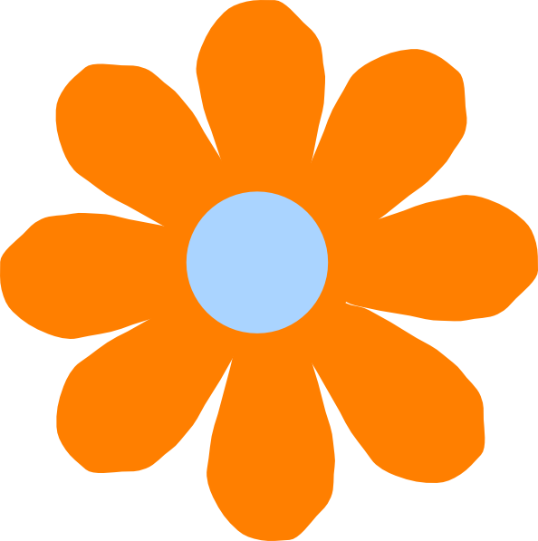 clipart freeuse download Orange Flower Clip Art at Clker