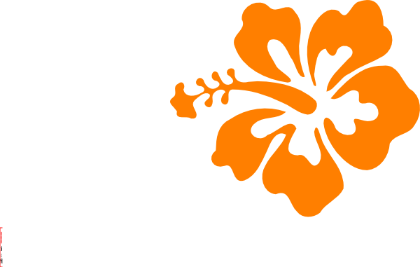 svg royalty free Orange Hibiscus Clip Art at Clker
