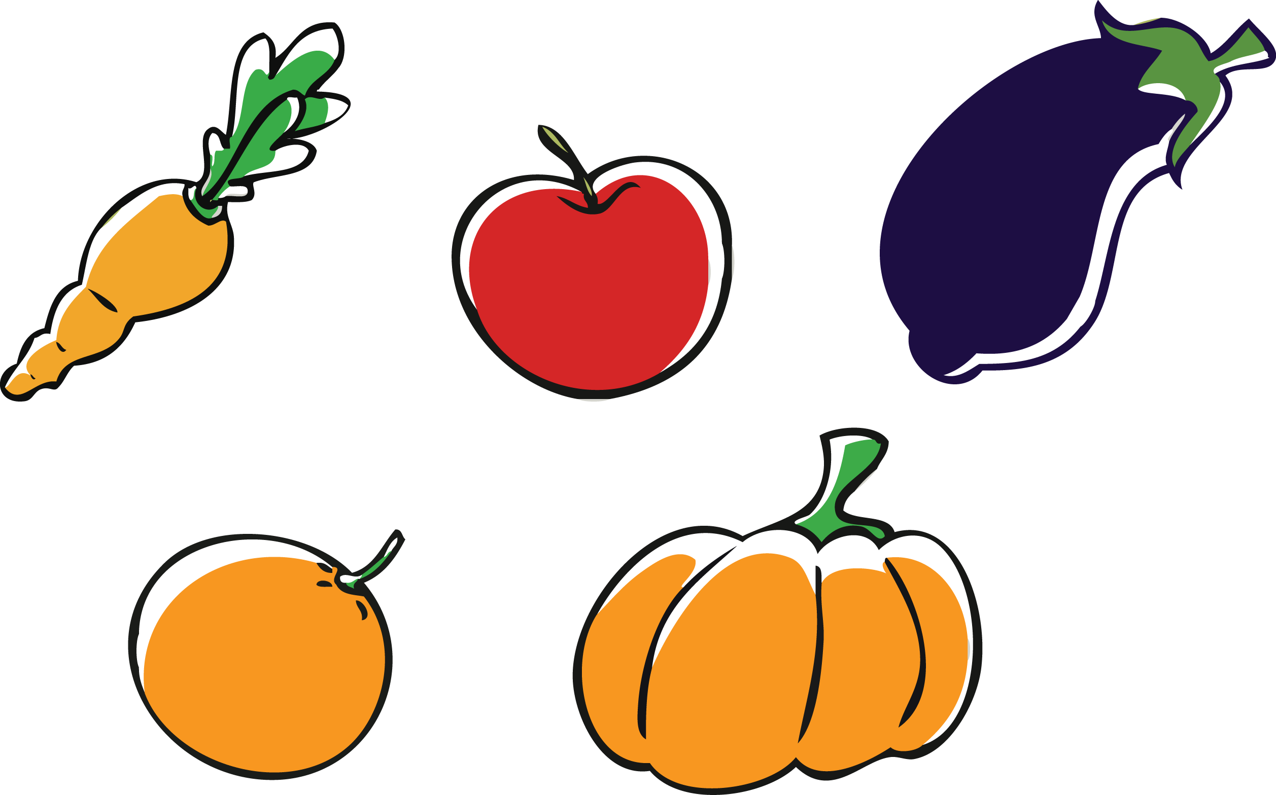 free Apple Pumpkin Vegetable Clip art