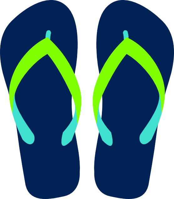 graphic free stock Flip Flops Clipart Black And White