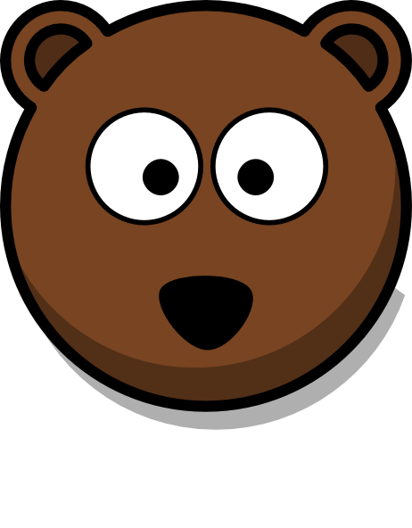 image black and white library Cartoon face clip art. Bear head clipart