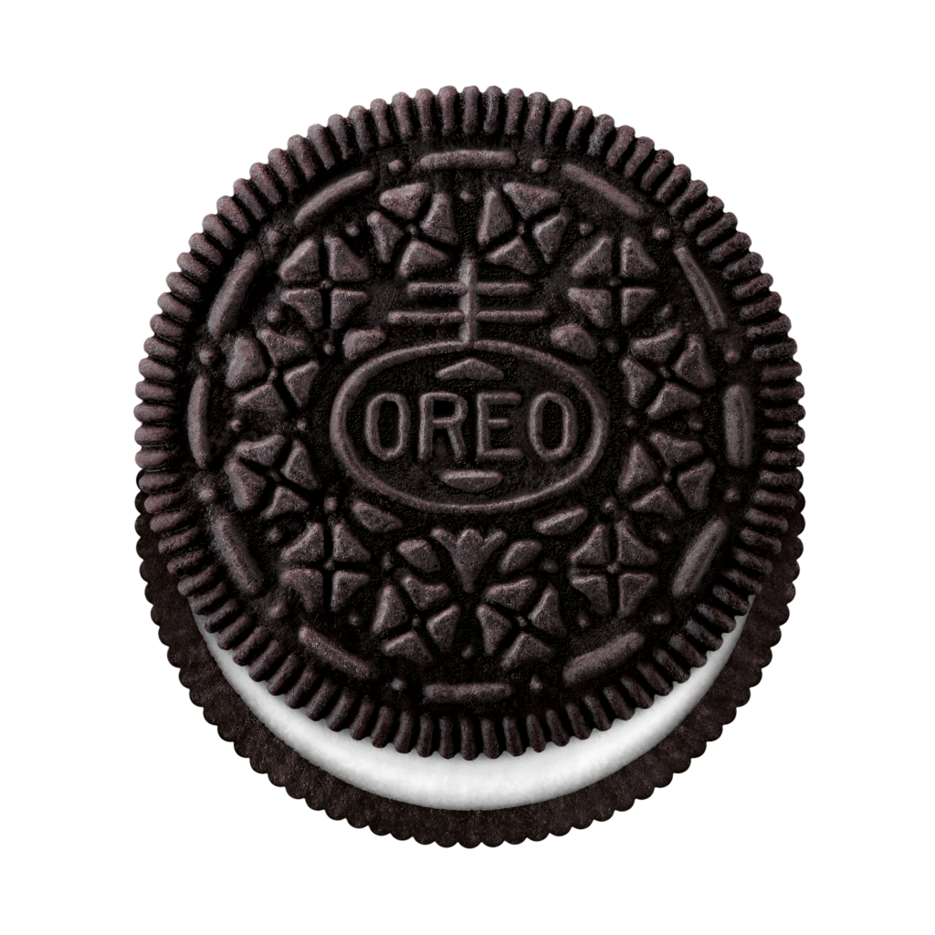 vector black and white library Oreos Clipart Group