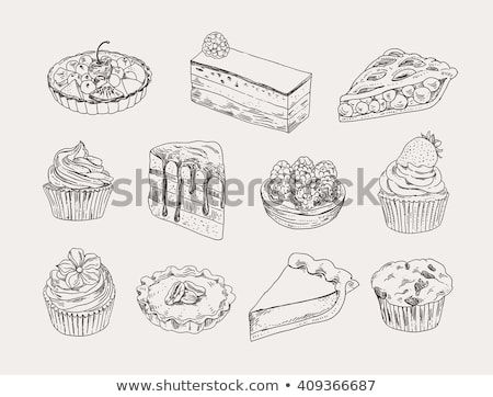 jpg royalty free download Vintage bakery hand drawn. Oreo vector outline