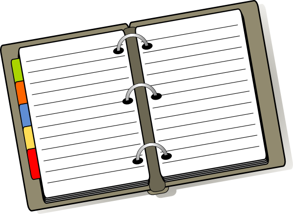 jpg black and white library Organization clipart. Organized binder clip art.
