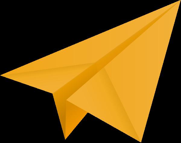 clip transparent origami vector airplane #114816332