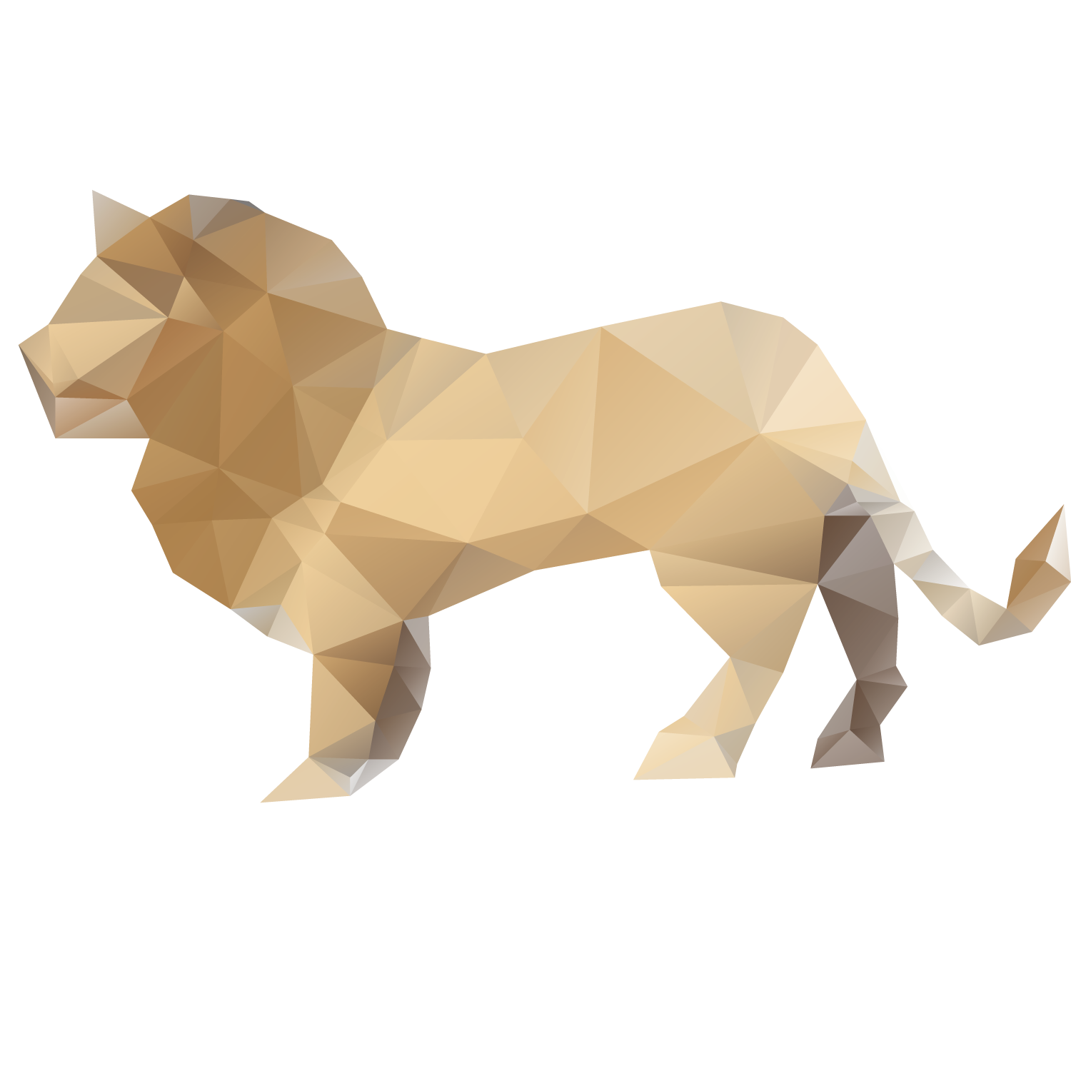 picture royalty free download Lion Paper Origami