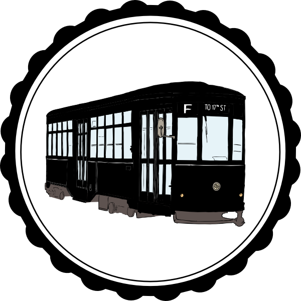 clipart black and white Clip art at clker. Orleans clipart orleans streetcar