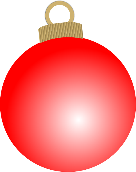 image library library Red Christmas Ornament Clipart
