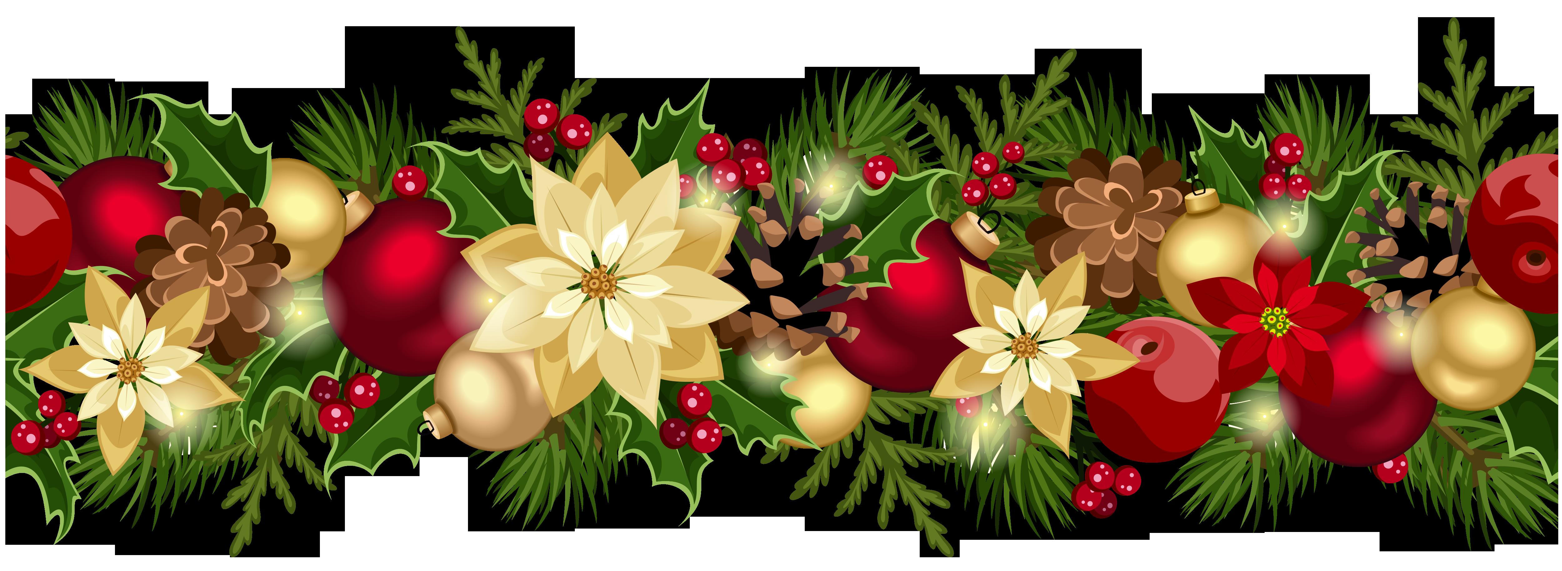 banner royalty free download Christmas decorations clipart borders. Decorative garland xmasblor galleryyopricevillecom
