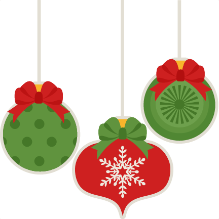 black and white Christmas Ornament Set scrapbook cut file cute clipart files for