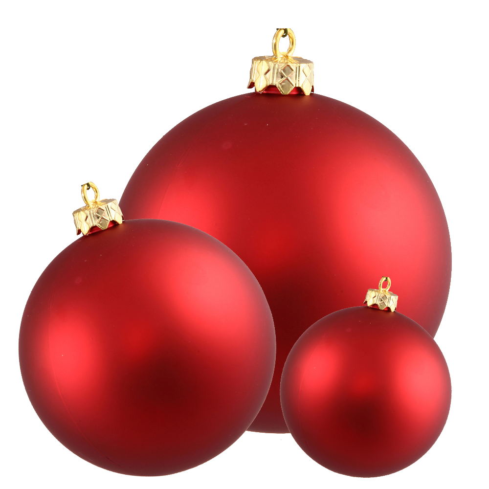 graphic Red Christmas Tree Ornaments