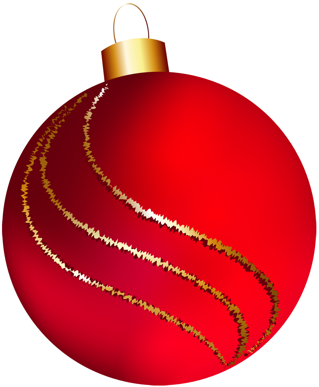 vector free stock Large red christmas clip. Ornament clipart
