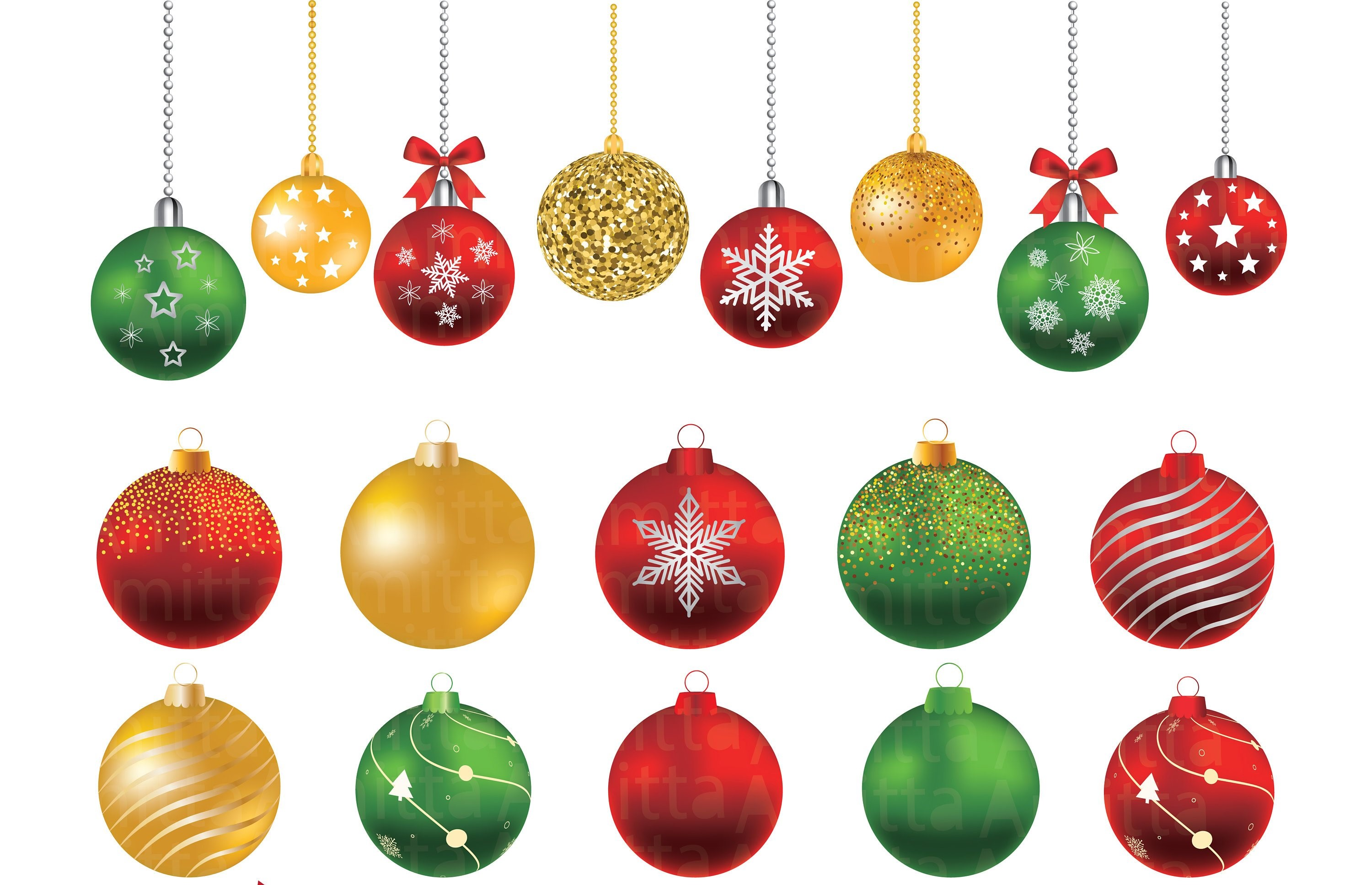 png library download Ornaments clipart. Christmas balls set