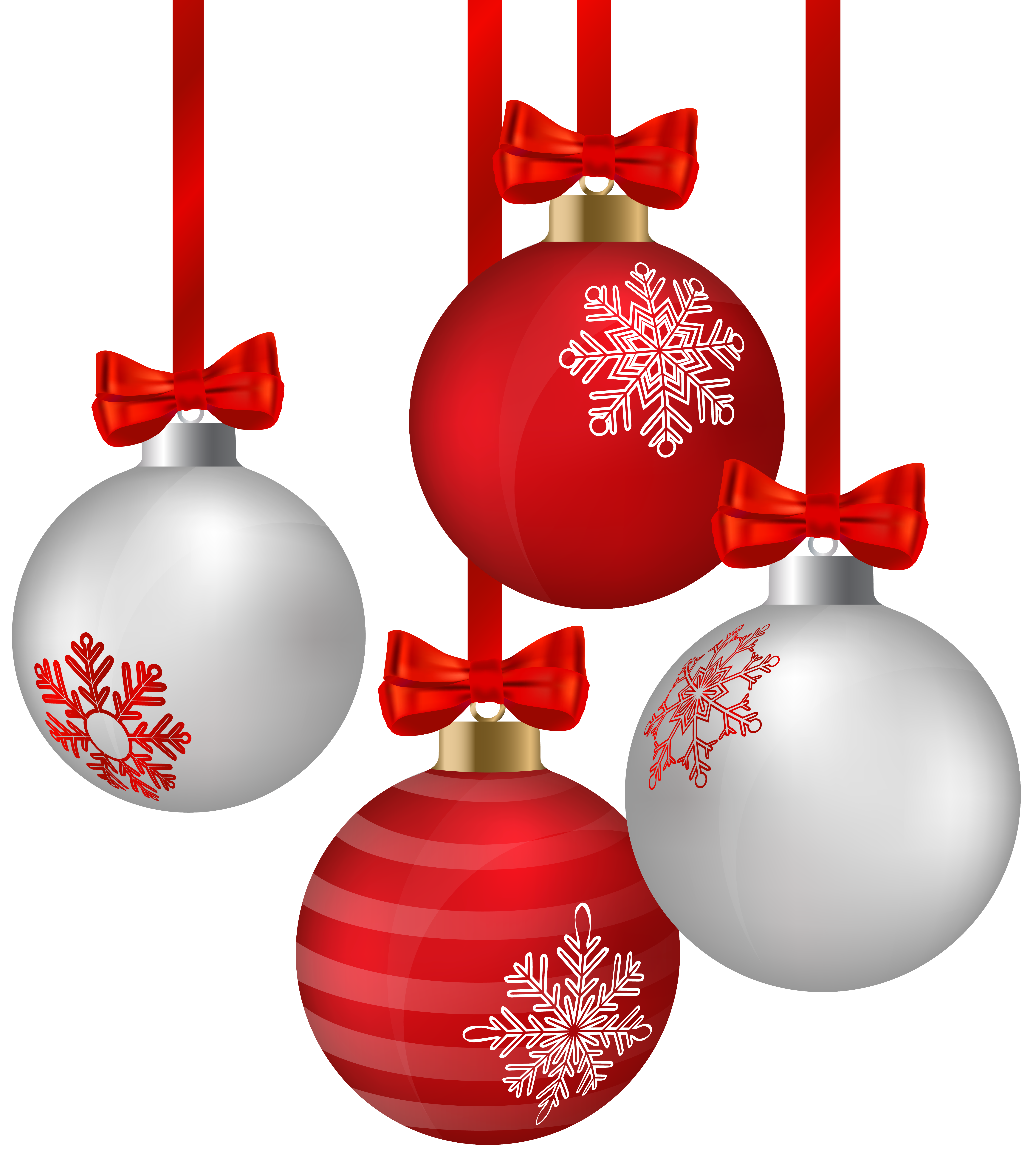 freeuse download White and red hanging. Ornaments clipart