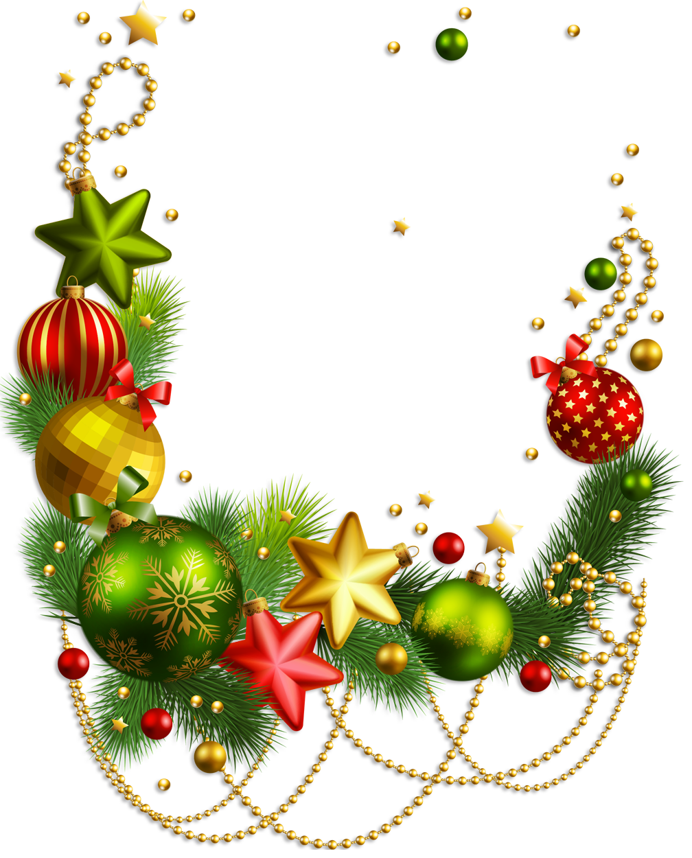 picture transparent Xmas free clip art. Christmas decorations clipart borders.