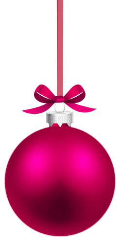 banner free Pink Hanging Christmas Ball PNG Clipart