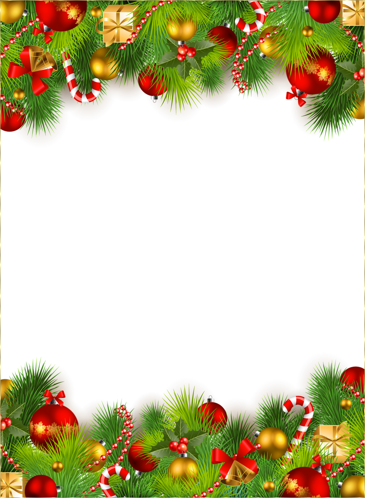 picture library download Cute png photo frame. Christmas top border clipart