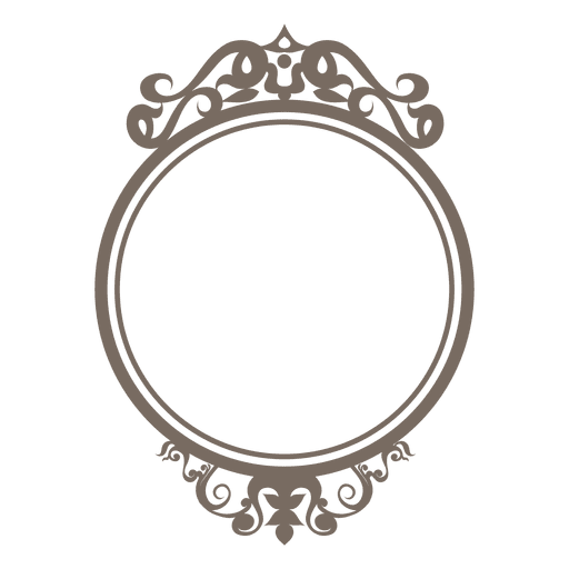 svg black and white Decorative ornate round frame