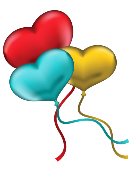 svg black and white download Red Blue and Yellow Heart Balloons PNG Clipart Picture