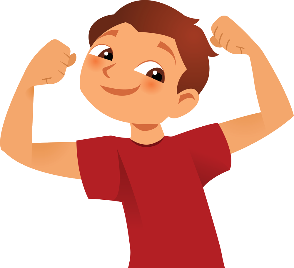 svg free stock Strong kids clipart. Royalty free clip art