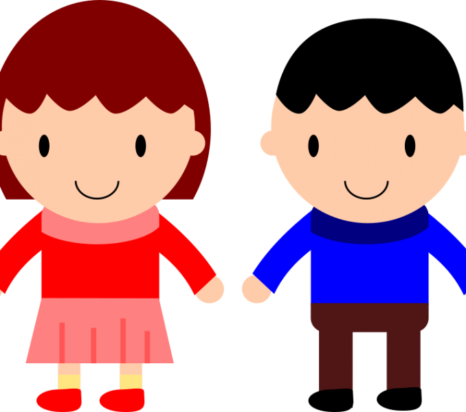 jpg library Girl and boy cliparts. Little kids clipart