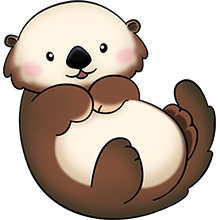 vector free library Pin by janet polley. Otter clipart.