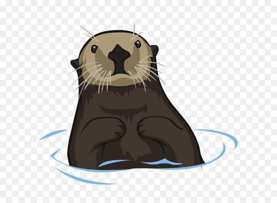 royalty free library Otter clipart. Cartoon rat bear transparent.