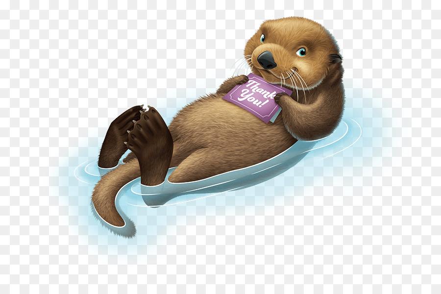 png transparent download Cartoon ocean dog transparent. Otter clipart.