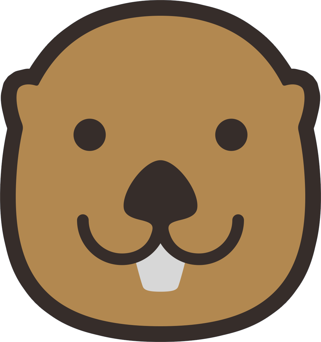 graphic royalty free download Otter clipart face