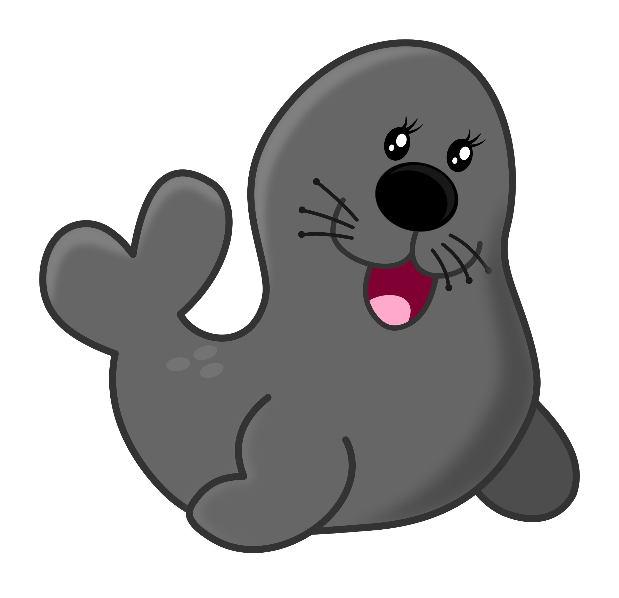clipart freeuse download Funny lovely seal cartoon tee shirts for baby