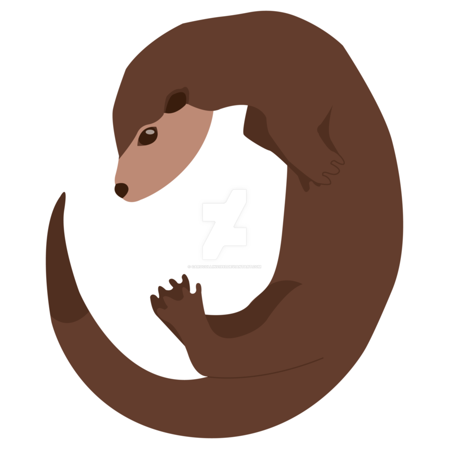 image library library Swimming by carocollins on. Otter vector.