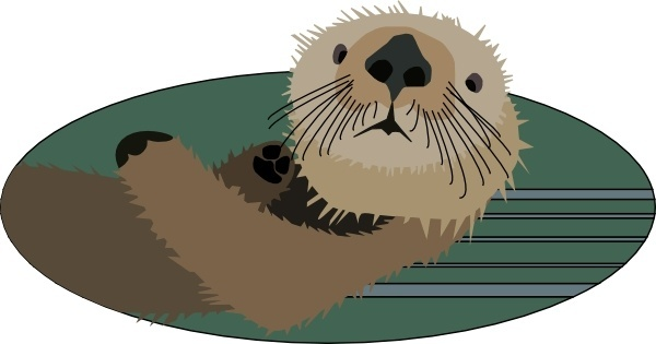 png free stock Otter vector. Free download for .