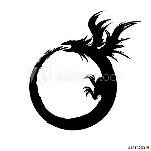 jpg transparent library Ouroboros vector. Sign alchemical magical symbol