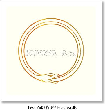 clipart royalty free library The symbol of snake. Ouroboros vector clockwork
