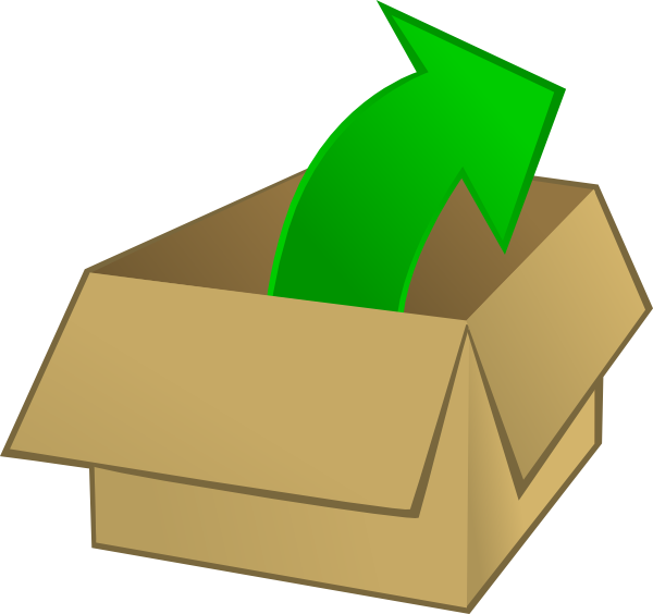 image stock Out of the clip. Boxes clipart stacked box