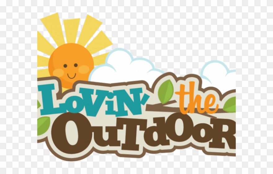png royalty free library Outdoors clipart. Outdoor camping word recreation