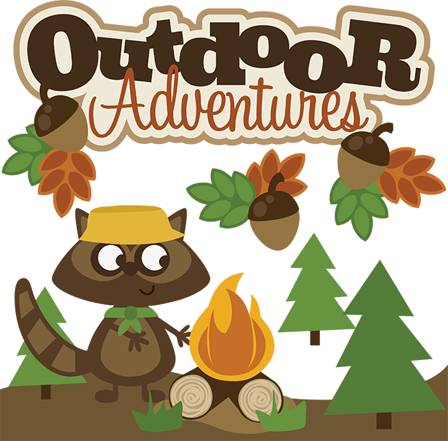 clip free library Outdoors clipart. Outdoor adventures svg scrapbook