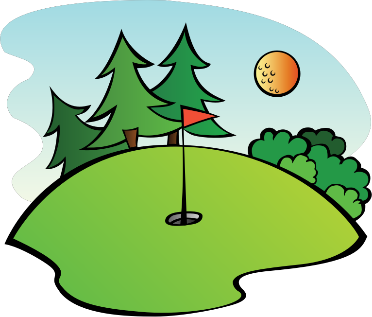 svg download Golf course medium image. Outdoors clipart.