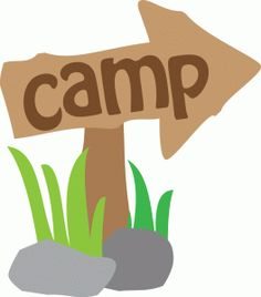 vector library stock Outdoors clipart camp sign. Transparent
