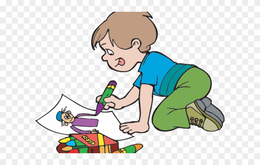 banner transparent Boy drawing clipart. Outside outdoor fun little